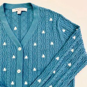Brooks Brothers Sailboat Embroidered Cardigan